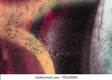 Interesting, colorful paint on the wall