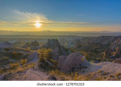 Interesting geological surface features of Cappadocia, Turkey.