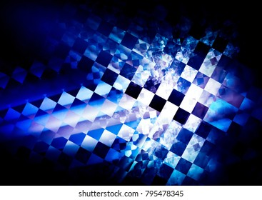 interesting geometric background. deep colorfully blue