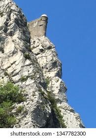 Interesting grey rockfaces