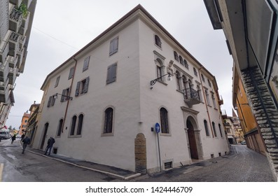 Interesting house in the centre of Belluno. Italy. Europe
