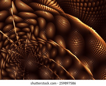 Interesting intriguing abstract background in brown and gold tones, warm colors