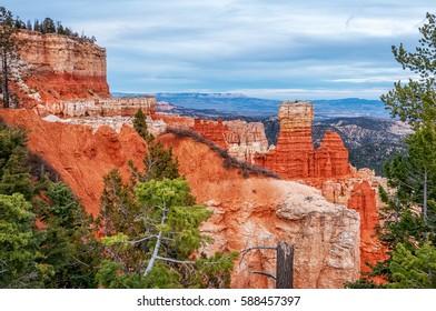 Interesting rock formations at Bryce Canyon National Park, Utah, USA.
