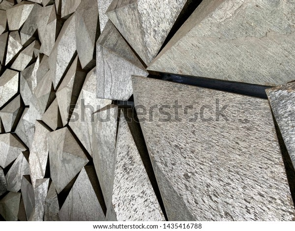 Interesting Shapes Design Rock Wall Jagged Stock Photo Edit Now