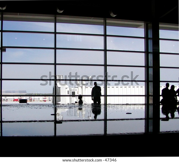 Interesting silhouette at airport