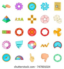 Interface design icons set. Cartoon set of 25 interface design  icons for web isolated on white background