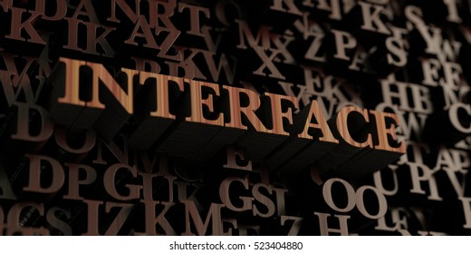 Interface - Wooden 3D rendered letters/message.  Can be used for an online banner ad or a print postcard.