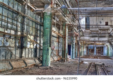 Interior of an abandoned factory.