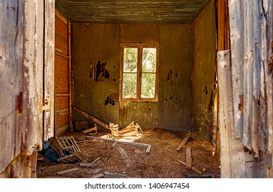 interior of abandoned house found in greece