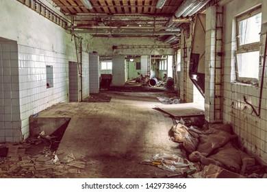 Interior of abandoned house in Korytnica spa, Slovak republic. Urbex style.