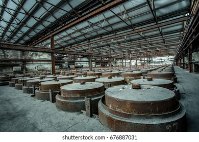 interior of abandoned industrial complex