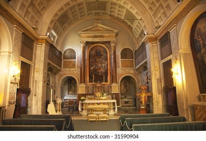Interior Altar Paintings, Saint Sebastian San Sebastiano Al Palatino Saint Sebastian Basilica Palantine Hill Rome Italy