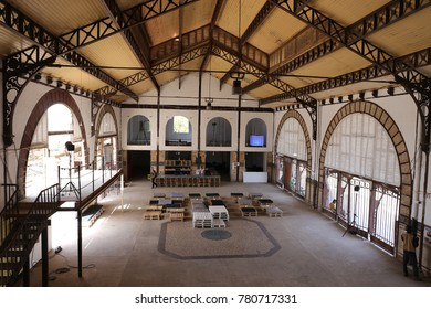 Interior of the ancient railway station at dakar in senegal. It has been restorated as the initial colonial style. The picture has been taken on 10th may 2016.