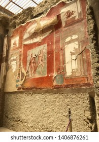 Interior of an ancient Roman house in the city of Herculaneum