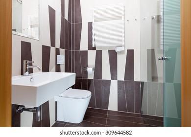 Interior of apartment in art deco style