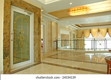 It is interior of apartment, this is the corridor on the second floor.