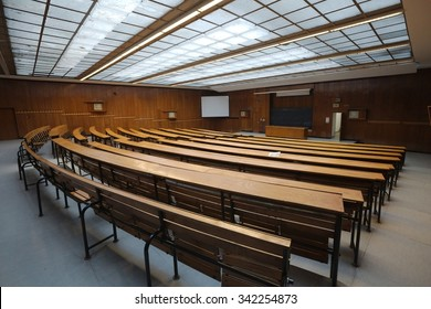 Interior of an auditorium at a university