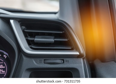 Interior auto air conditioning  system in modern car