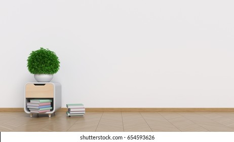 Interior background of living room ,3D rendering