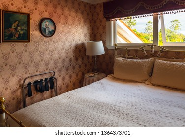 Interior of Barbara Weldon Room (Bordello) in Theatre Royal Hotel in Kumara Town, NZ. Barbara was one of New Zealand`s most notorious prostitutes. This was the original working girl's room. 1/30/2018