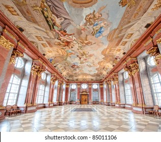 Interior of a baroque palace in Vienna, Austria