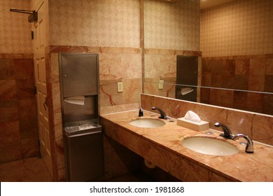 the interior of a bathroom