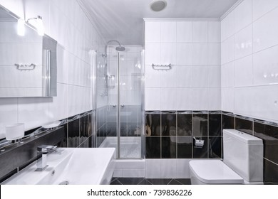 The interior of bathroom.