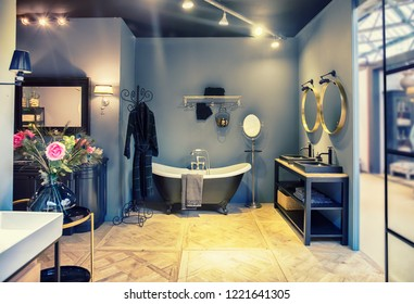 interior of bathroom in classic style