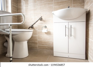 Interior of bathroom for disabled or elderly