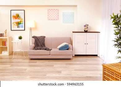 Interior of beautiful modern living room