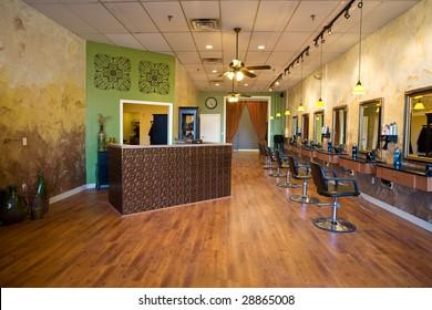 Interior of a Beauty Salon Spa