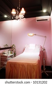 An interior of beauty/wax clinic