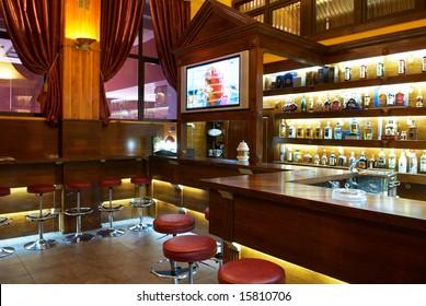 Interior of beer pub