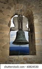 interior of belltower, Ermita of santa Cecilia of Fantova, La Puebla de Fantova, Graus, Huesca