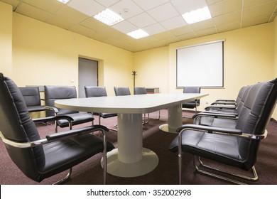 Interior of a boardroom