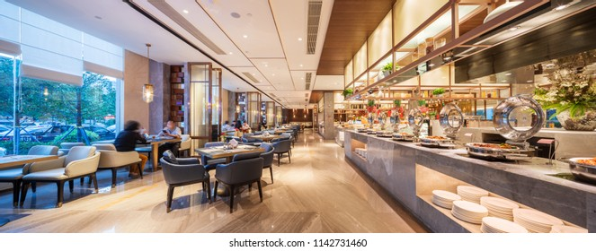 interior of buffet restaurant