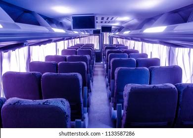 Interior bus travel.