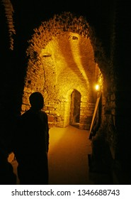 Interior of the Byzantine Cistern at Fatih in Istanbul, Turkey.