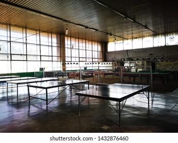 Interior cafeteria of the Bishkek Bus Terminal, Bishkek, Krygyzstan, 07.06.2019