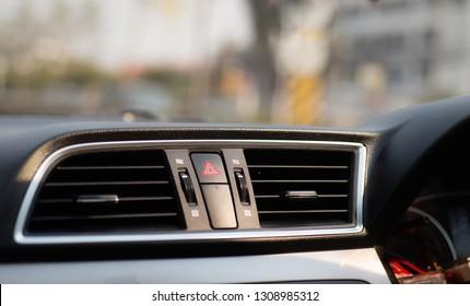 Interior car on blur background.