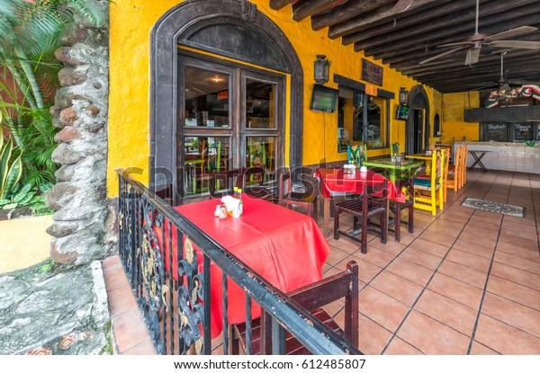 Interior Caribbean Tropical Mexican Restaurant Interior