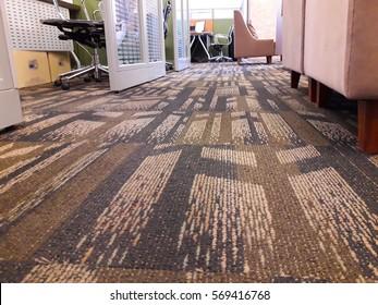 interior of carpet floor in the office