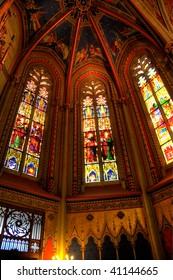 Interior of Cathedral Saint Pierre in Geneva, Switzerland
