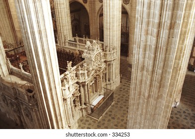 interior of cathedral in Salamanca, Spain