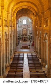 Interior of the Cathedral of Santa Maria Maior in Lisbon, Portugal.