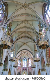 Interior of Cathedral of St Helena in Helena, Montana