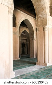 Interior of the central courtyard of the Ahmed Tulun - Cairo,Egypt. Well preserved and visited tourist spot in Cairo  Egypt.