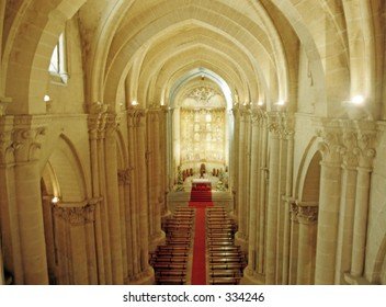 interior of chapel with cathedral in Salamanca, Spain