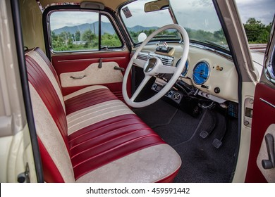 Interior The Chevrolet Truck 1947 Parking In The Train Station On July, 27,  2016