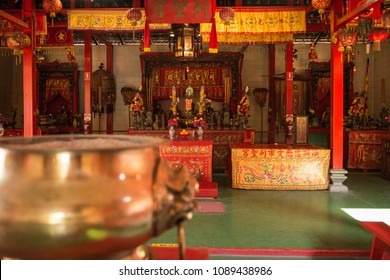 The interior of the Chinese Temple in Darwin, Australia